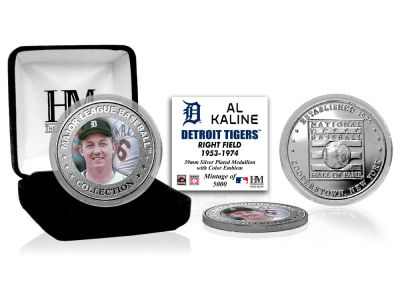 Detroit Tigers Al Kaline Highland Mint MLB Baseball Hall of Fame Silver Color Coin