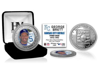 Kansas City Royals George Brett Highland Mint MLB Baseball Hall of Fame Silver Color Coin