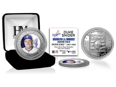 Los Angeles Dodgers Duke Snider Highland Mint MLB Baseball Hall of Fame Silver Color Coin
