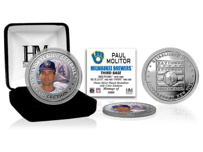 Milwaukee Brewers Paul Molitor Highland Mint MLB Baseball Hall of Fame Silver Color Coin