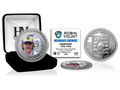 Milwaukee Brewers Robin Yount Highland Mint MLB Baseball Hall of Fame Silver Color Coin