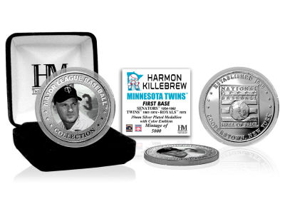 Minnesota Twins Harmon Killebrew Highland Mint MLB Baseball Hall of Fame Silver Color Coin
