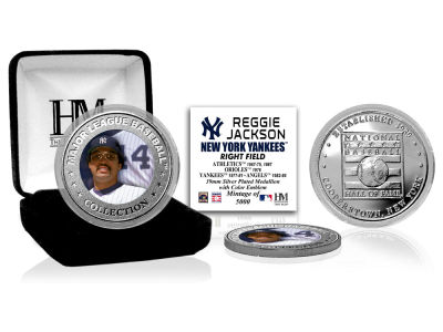 New York Yankees Reggie Jackson Highland Mint MLB Baseball Hall of Fame Silver Color Coin