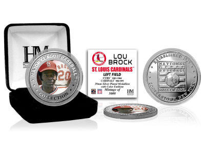 St. Louis Cardinals Lou Brock Highland Mint MLB Baseball Hall of Fame Silver Color Coin