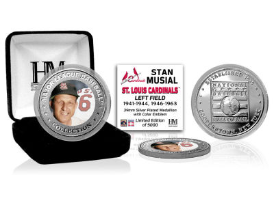 St. Louis Cardinals Stan Musial Highland Mint MLB Baseball Hall of Fame Silver Color Coin