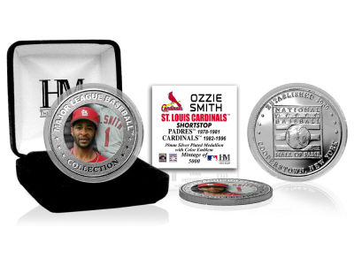 St. Louis Cardinals Ozzie Smith Highland Mint MLB Baseball Hall of Fame Silver Color Coin