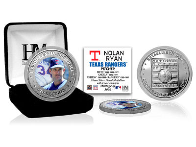 Texas Rangers Nolan Ryan Highland Mint MLB Baseball Hall of Fame Silver Color Coin