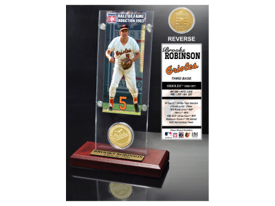 Baltimore Orioles Brooks Robinson Highland Mint MLB Hall of Fame Ticket & Bronze Coin Acrylic Desk Top