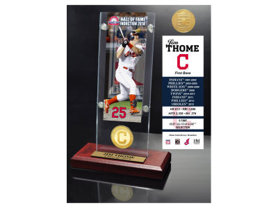 Cleveland Indians Jim Thome Highland Mint MLB Hall of Fame Ticket & Bronze Coin Acrylic Desk Top