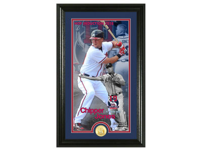 Atlanta Braves Chipper Jones Highland Mint MLB Hall of Fame Supreme Bronze Coin Photo Mint