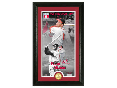 St. Louis Cardinals Stan Musial Highland Mint MLB Hall of Fame Supreme Bronze Coin Photo Mint