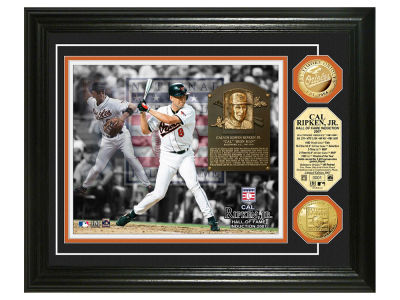 Baltimore Orioles Cal Ripken Jr. Highland Mint MLB Hall of Fame Banner Bronze Coin Photo Mint