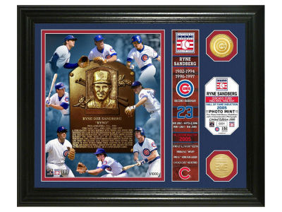 Chicago Cubs Ryne Sandberg Highland Mint MLB Hall of Fame Banner Bronze Coin Photo Mint