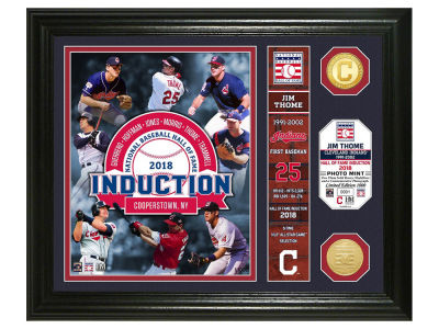 Cleveland Indians Jim Thome Highland Mint MLB Hall of Fame Banner Bronze Coin Photo Mint