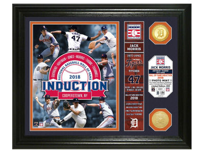 Detroit Tigers Jack Morris Highland Mint MLB Hall of Fame Banner Bronze Coin Photo Mint