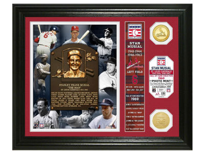 St. Louis Cardinals Stan Musial Highland Mint MLB Hall of Fame Banner Bronze Coin Photo Mint