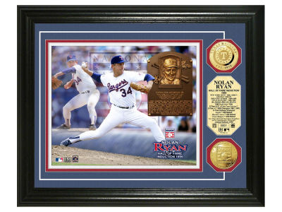 Texas Rangers Nolan Ryan Highland Mint MLB Hall of Fame Gold Coin Photo Mint