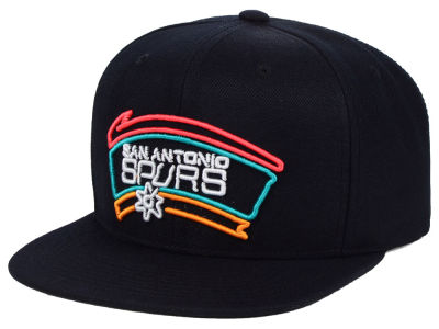 San Antonio Spurs Mitchell   Ness NBA Team Color Neon Snapback Cap b57c9221ad4d