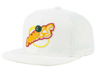 Seattle SuperSonics Mitchell & Ness NBA Team Color Neon Snapback Cap