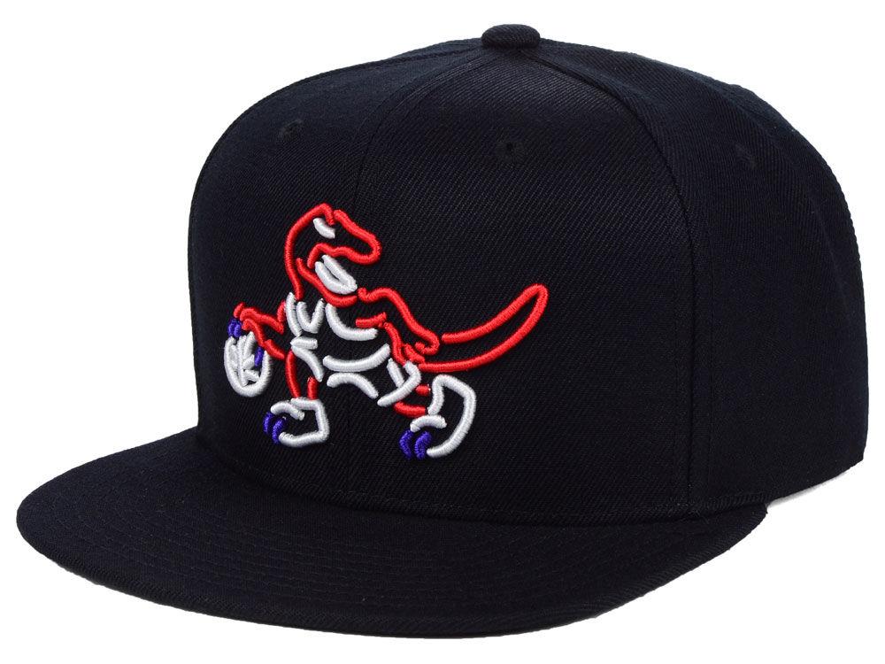 c013a05558a Toronto Raptors Mitchell   Ness NBA Team Color Neon Snapback Cap ...