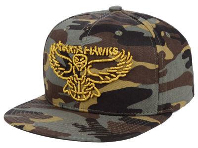 Atlanta Hawks Mitchell   Ness NBA Camo Neon Snapback Cap a2ce9ab23f04