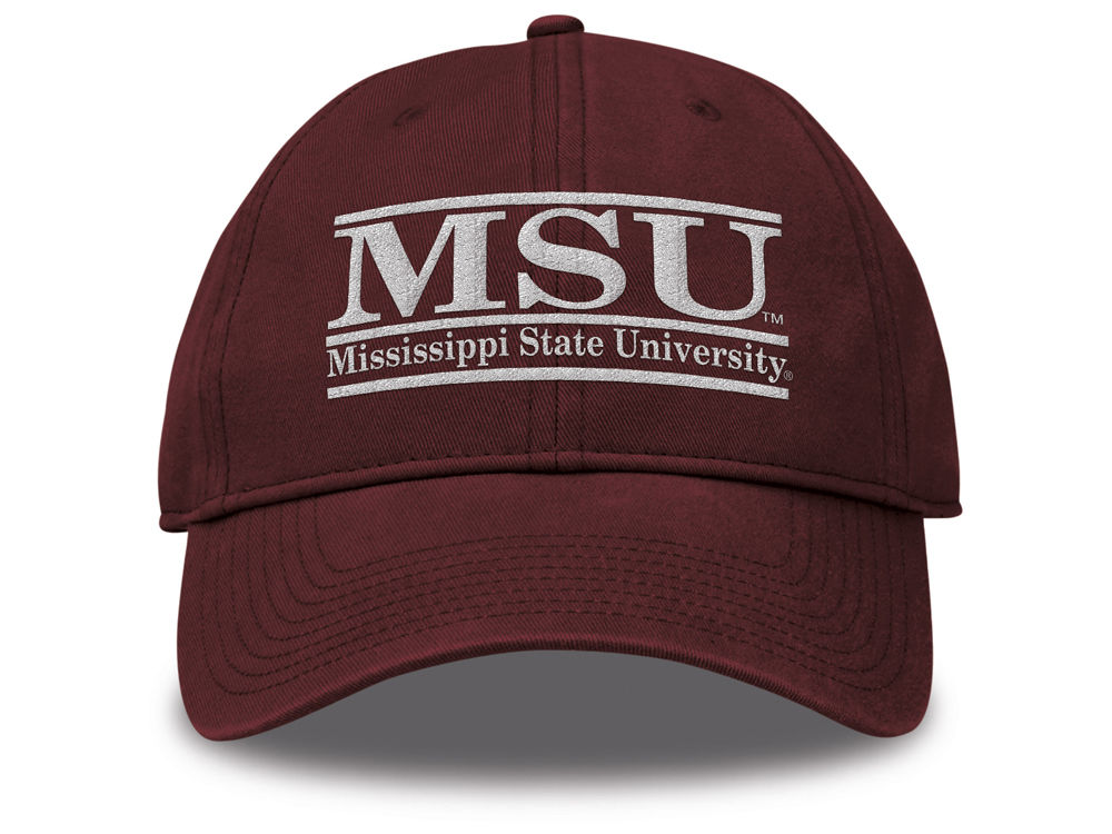 44ac5f8537b Mississippi State Bulldogs The Game NCAA Team Color Classic Bar Cap ...