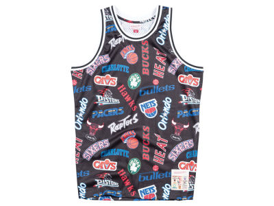 NBA Logo Mitchell & Ness Men's ALL Over Collection Jersey