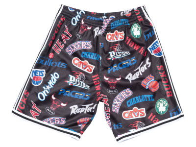 NBA Logo Mitchell & Ness Men's ALL Over Collection Shorts
