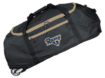 Los Angeles Rams Mojo 36in Checked In Rolling Duffel