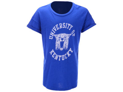Kentucky Wildcats Retro Brand NCAA Youth Girls Rolled Sleeve T-Shirt