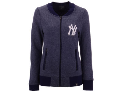 New York Yankees 5th & Ocean MLB Women's French Terry Full Zip Jacket