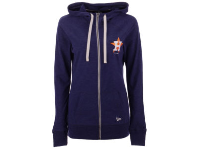Houston Astros 5th & Ocean MLB Women's Tri-blend Fleece Full Zip Sweatshirt