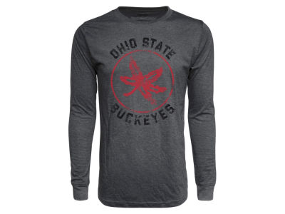 Ohio State Buckeyes J America NCAA Men s Tri-Blend Long Sleeve T-Shirt 9214a3899