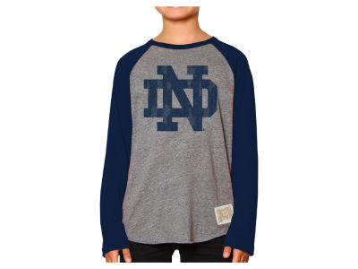 Notre Dame Fighting Irish Retro Brand NCAA Youth Raglan Long Sleeve T-Shirt