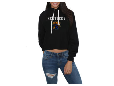 Kentucky Wildcats Retro Brand NCAA Women's Cropped Hooded Sweatshirt