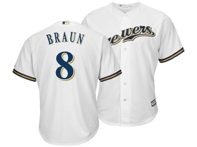 Milwaukee Brewers Ryan Braun Majestic MLB Men s Player Replica Cool Base  Jersey b56e91a30