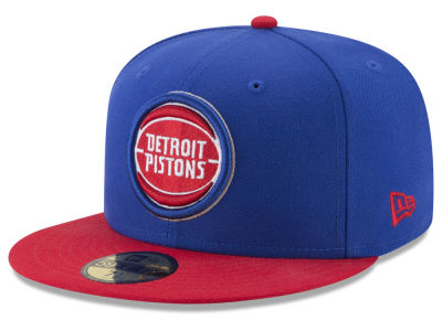 Detroit Pistons New Era NBA Basic 2 Tone 59FIFTY Cap
