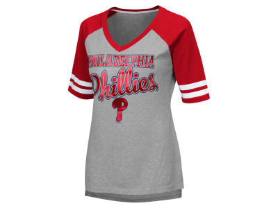 Philadelphia Phillies G-III Sports MLB Women's Goal Line Raglan T-shirt