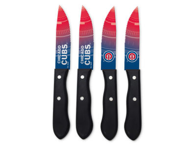 Chicago Cubs Sports Vault 4 Steak Knife Set