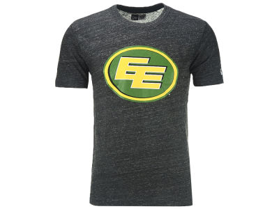 Edmonton Eskimos New Era CFL Men's Heathered Tri-blend Logo T-shirt