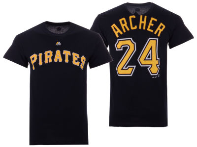 Pittsburgh Pirates Chris Archer Majestic MLB Men's Official Player T-Shirt