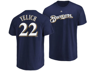 Milwaukee Brewers Christian Yelich Majestic MLB Men's Official Player T-Shirt