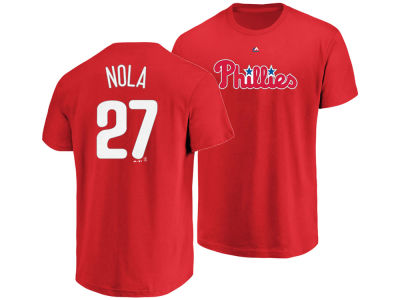 Philadelphia Phillies Aaron Nola Majestic MLB Men's Official Player T-Shirt