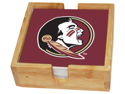 Florida State Seminoles Memory Company Square Coaster Set w/ Caddy
