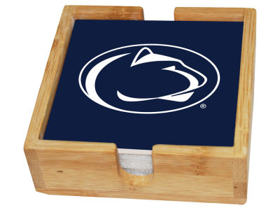 Penn State Nittany Lions Memory Company Square Coaster Set w/ Caddy