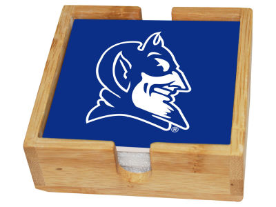 Duke Blue Devils Memory Company Square Coaster Set w/ Caddy