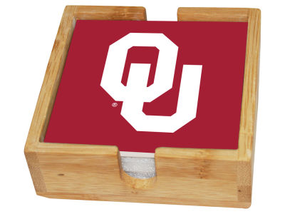 Oklahoma Sooners Memory Company Square Coaster Set w/ Caddy
