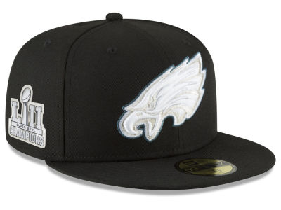Philadelphia Eagles New Era NFL Super Bowl LII Champ Patch 59FIFTY Cap