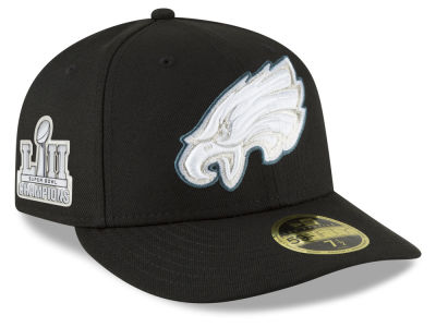 Philadelphia Eagles New Era NFL Super Bowl LII Champ Patch Low Profile 59FIFTY Cap