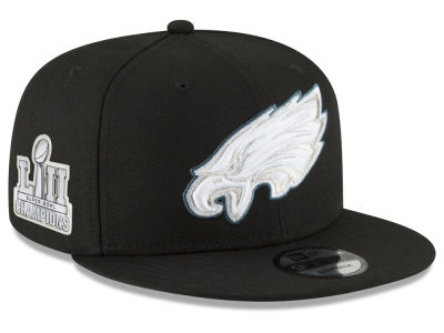 Philadelphia Eagles New Era NFL Super Bowl LII Champ Patch 9FIFTY Snapback Cap